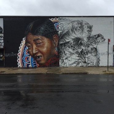 """Freedom"" by Canadian artist Li-Hill at Bushwick Collective - Copyright : @Altinnov"