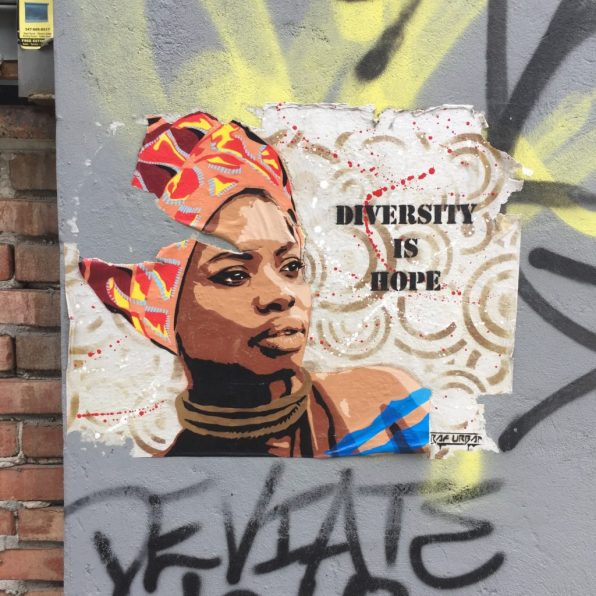 Diversity is Hope by Raf Urban at The Bushwick Collective