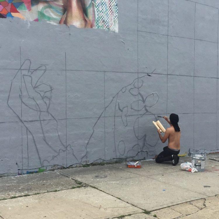 Work in Process par Li-Hill pour The Bushwick Collective