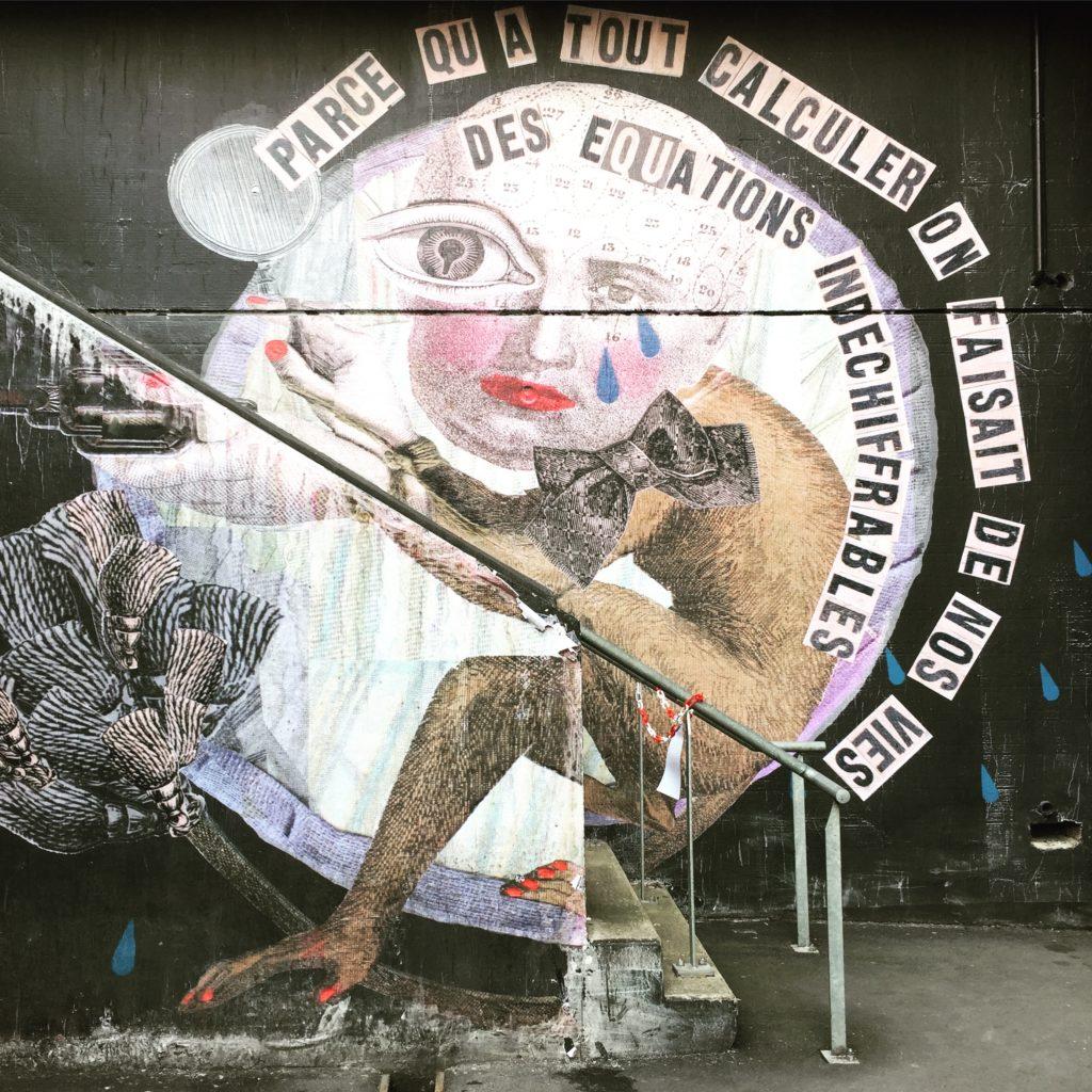 Oeuvre de l'artiste Madame réalisé à l'école ART42- Street Art France