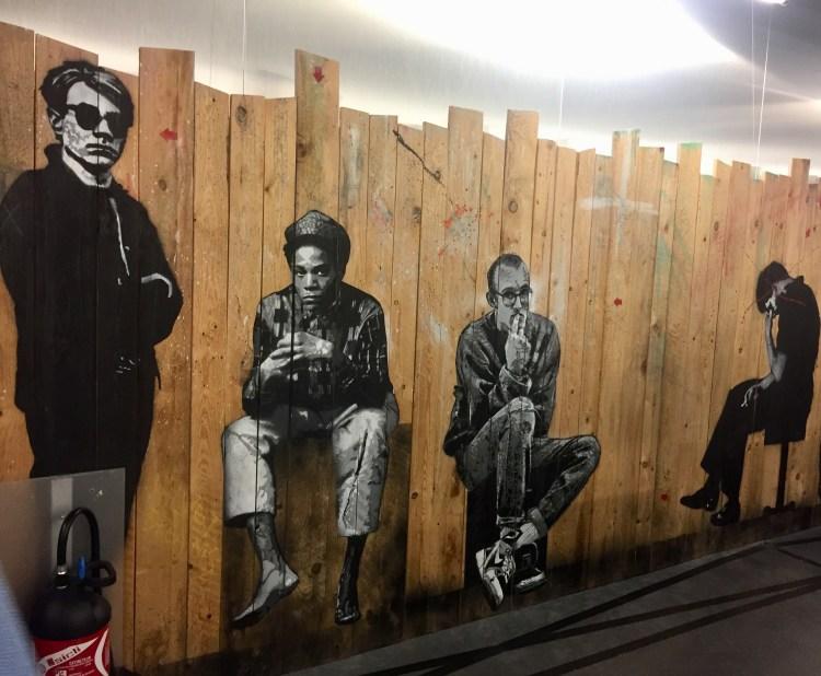 Andy Warhol, Jean-Michel Basquiat, Keith Haring par Jef Aérosol