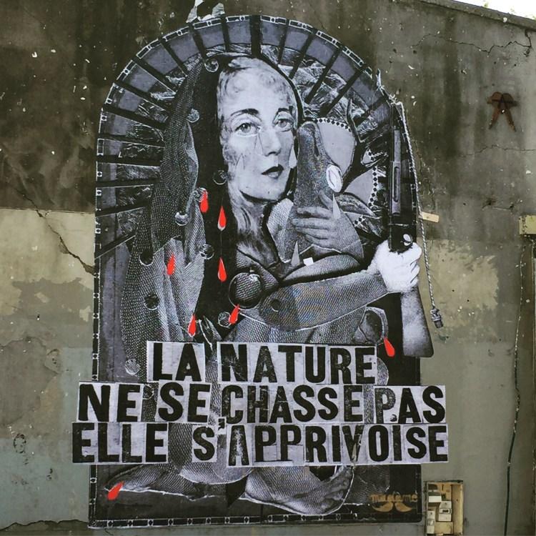 Madame Moustache - Street Art Français