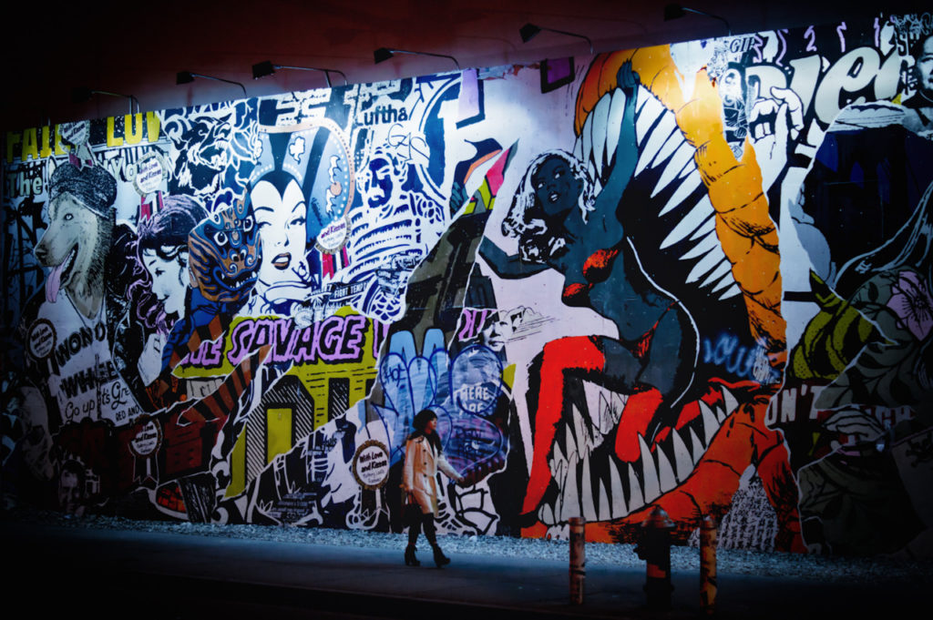 Houston Bowery Wall par FAILE
