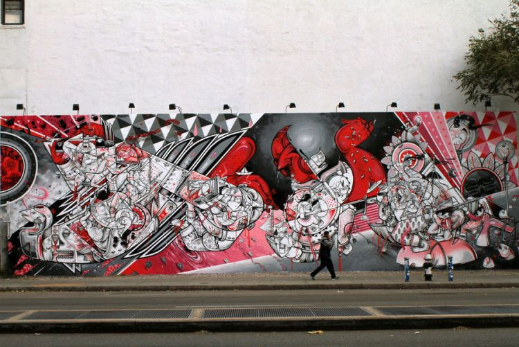 Houston Bowery Wall par How and Nosm