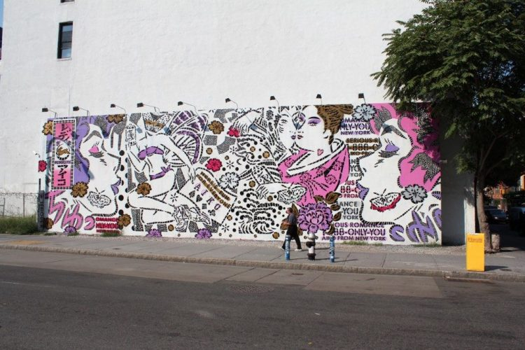Houston Bowery Wall par Lady Aiko