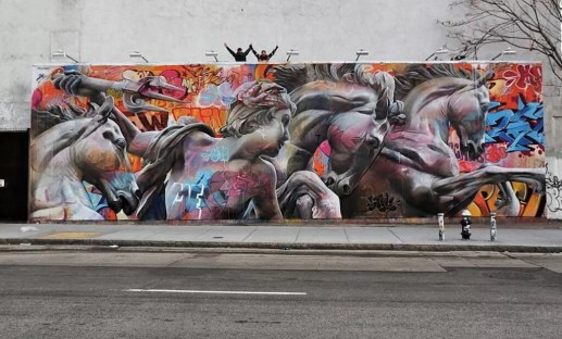 Houston Bowery Wall par Pichi & Avo