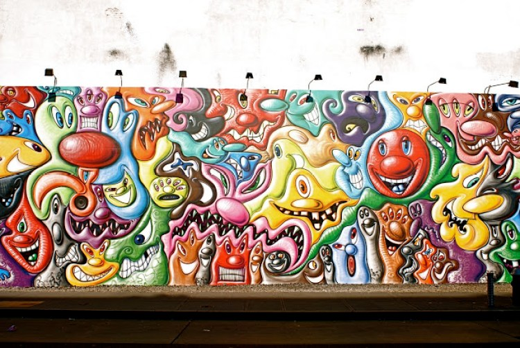 Houston Bowery Wall par Kenny Scharf