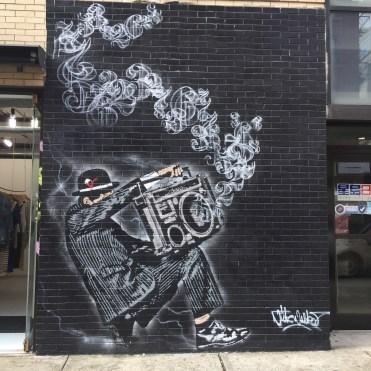 Gentleman vandale par Nick Walker - Street Art New York - Altinnov.blog