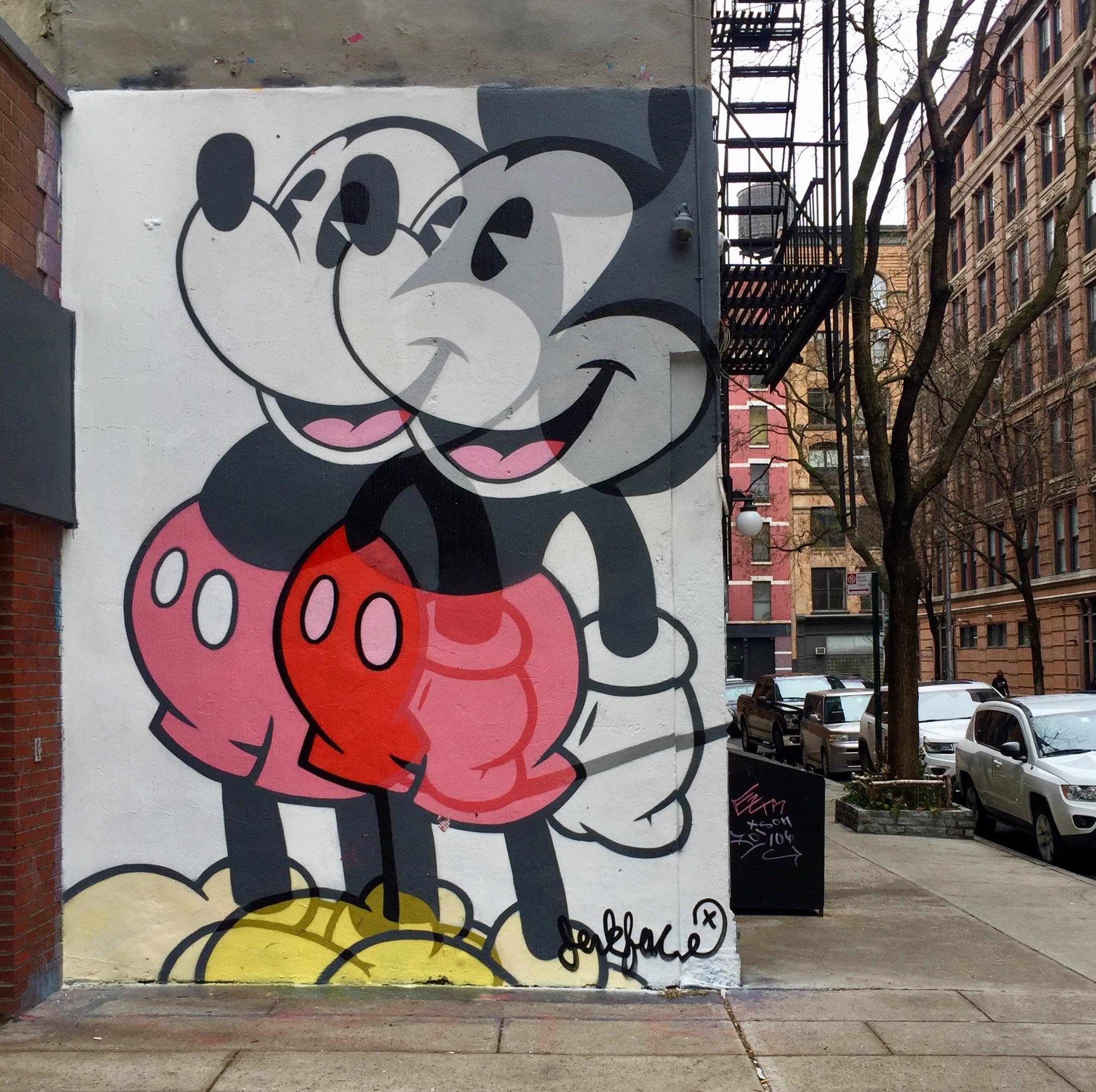 Mickey par Jerk Face , street art New York