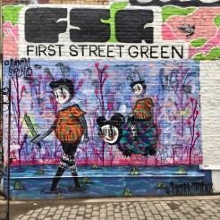 Personnages de Ramiro Davaro-Comas - Street Art New York - First Street Green Art Park