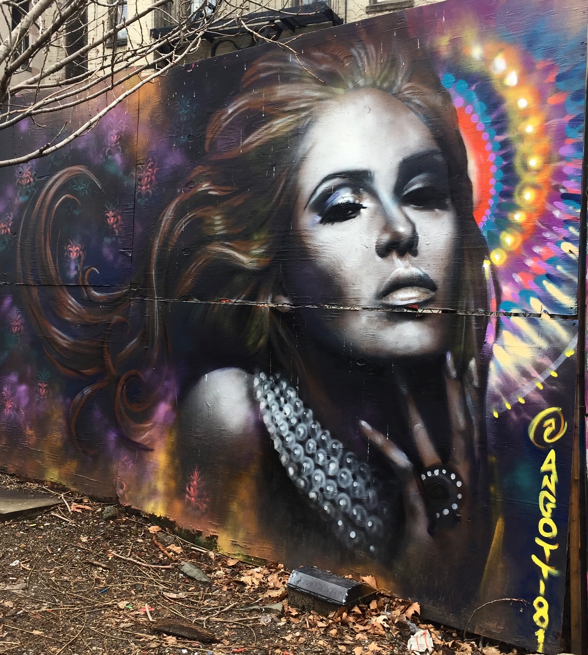 Portrait de femme par Ben Angotti - Street Art New York