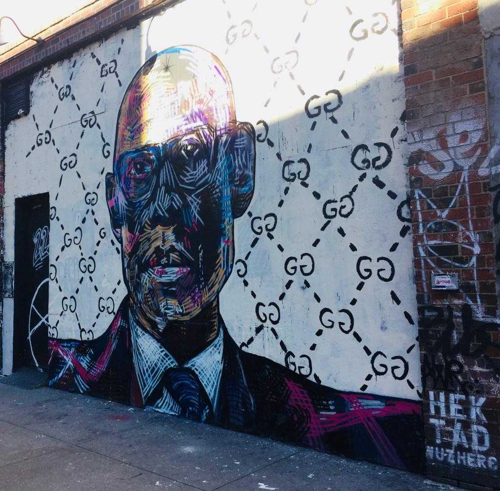 portrait par HEKTAD street art New York
