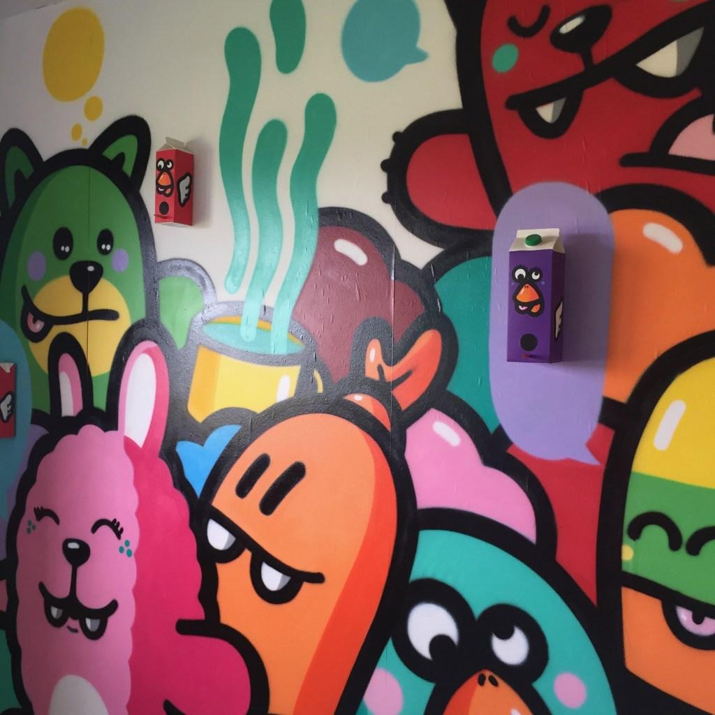 Chambre réalisée par PEC à l'hôtel 128 de Street Art City