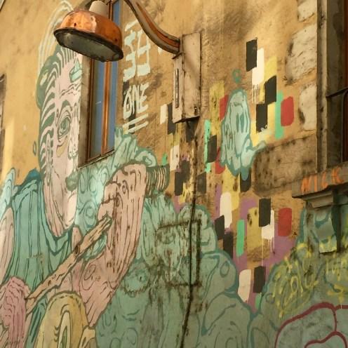 Fresque murale appelée Fresque Gainsbourg à la Croix-Rousse