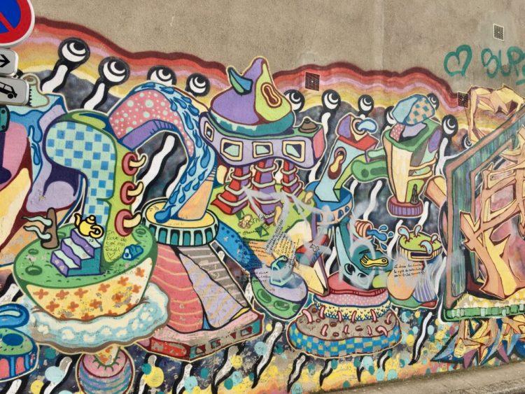 Fresque Murale rue Joséphin Soulary quartier de La Croix-Rousse à Lyon