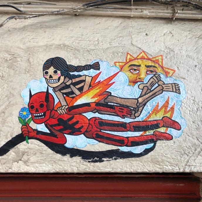 collage à Mexico city par l'artiste Mauricio Groenwold dans le quartier de Roma Norte