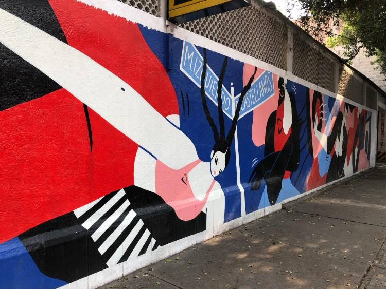 Fresque réalisée par Hilda Palafox - concours Nike Women - Juntas emparables- street Art Mexico City