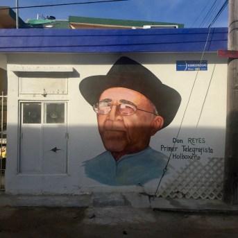 portrait street art Holbox telegraphiste