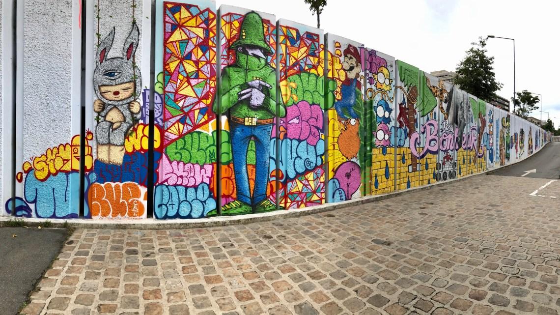 The best Parisian Street Art's aperitif is at Le Rosa Bonheur in Asnières !