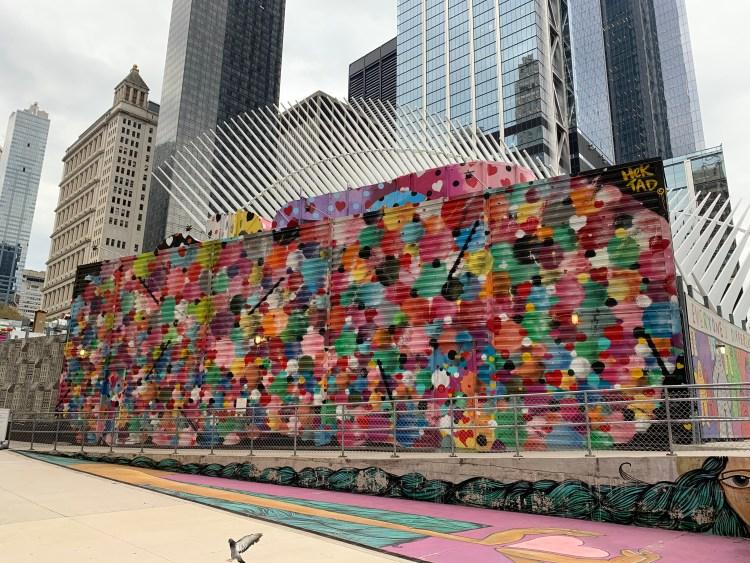 Street Art par Hektad au World Trade Center NYC - photo par le blog Street Art Altinnov