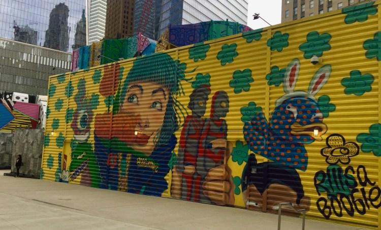 Street Art par Riisaboogie et Rezones - World Trade Center NYC - photo par le Street Art blog Altinnov