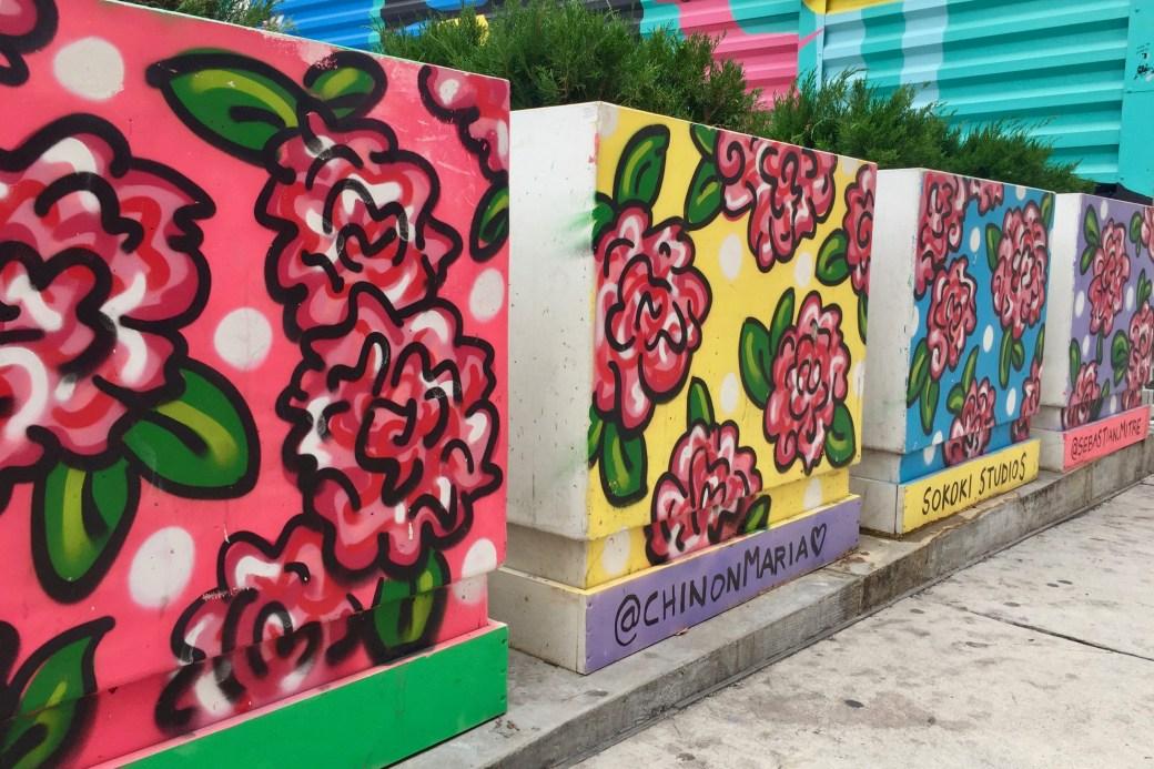 Street Art Flowers by Sokoki Studio - World Trade Center - nyc - photographié par Altinnov blog street art