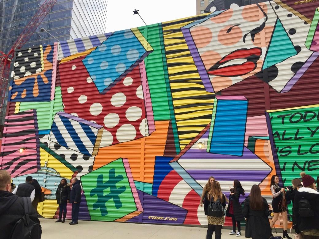 Du Street Art au World Trade Center pour égayer la dernière zone de construction !