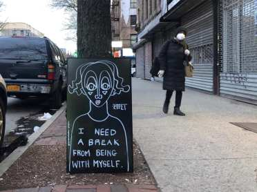 I need a break from being with myself - Sara Erenthal - Street Art NYC - Brooklyn