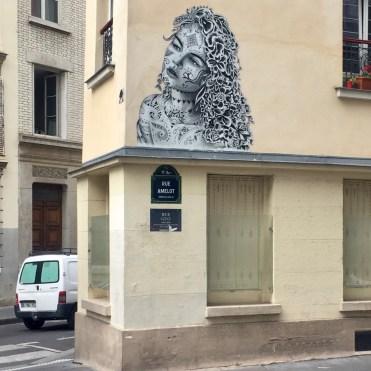 Oeuvre Street Art réalisée par l'artiste Aydar dans le Marais à Paris