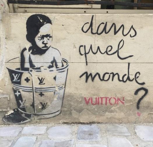 oeuvre réalisée par Erik Ze King - EZK - Art against Poverty - dans le Marais à Paris