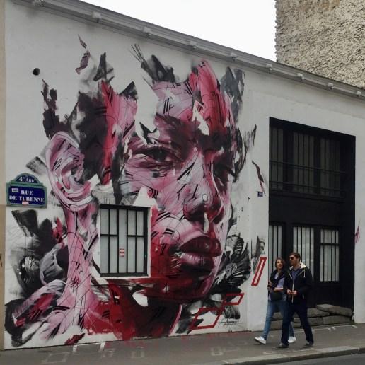 Oeuvre Street Art réalisée par l'artiste HOPARE1 dans le Marais à Paris