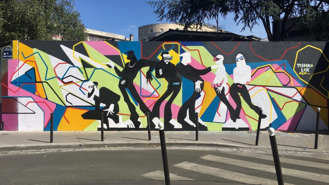 Street Art in Paris Canal de l'Ourcq is worth a visit!