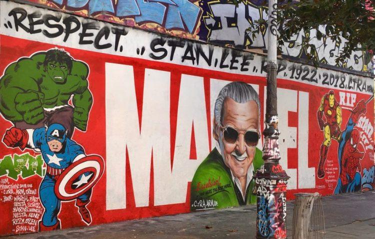 Hommage à Stan Lee - MARVEL - Comics _ Street art Canal de l'Ourcq