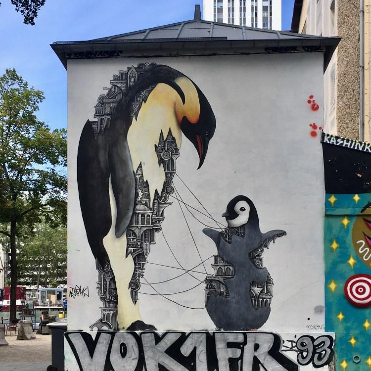 Street Art Canal de l'Ourcq - Animaux mécaniques par l'artiste Français ARDIF