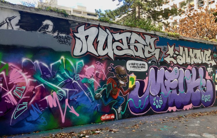 Street Art Canal de l'Ourcq - Oeuvre réalisée par l'artiste Berthet One