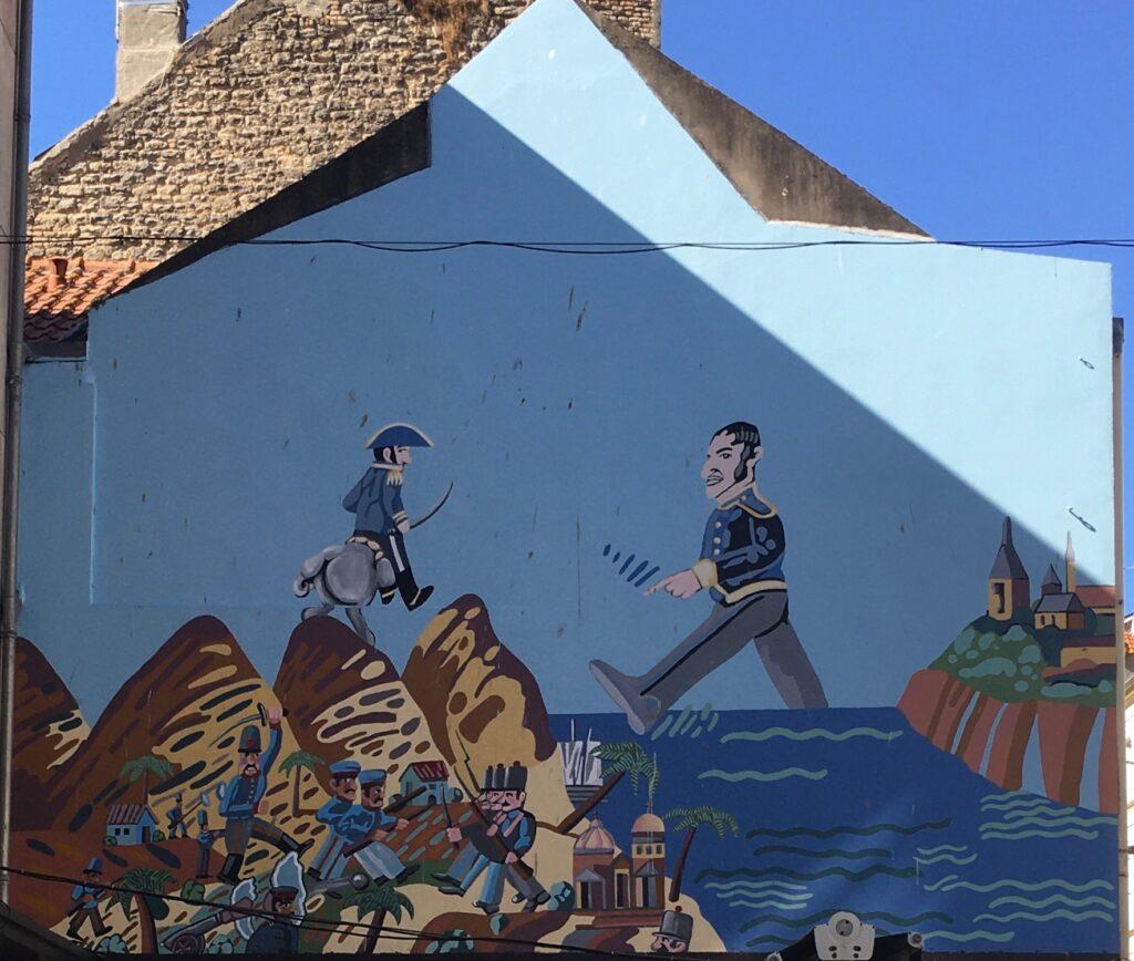 Peinture murale d'Antonio Segui à Boulogne sur Mer
