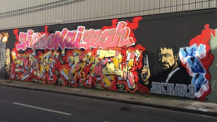 Graffiti yipeekaiyeah - Die Hard