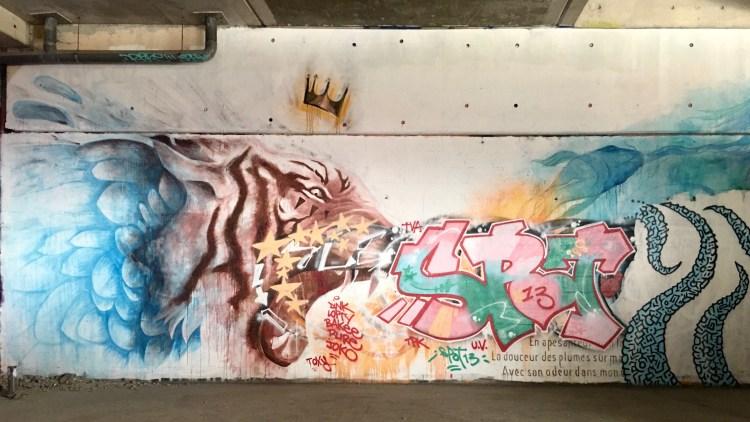 Fresque murale par Licea au Spot 13 de Street Art Paris