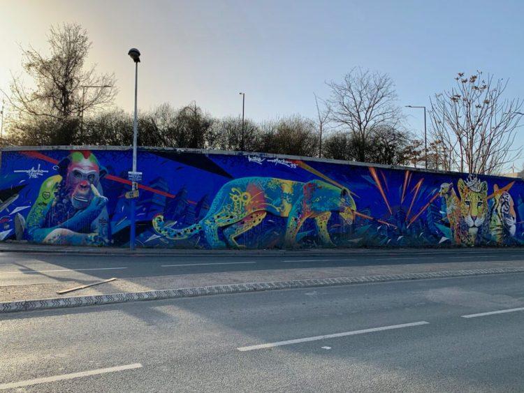 Marko93 & Hatre - fresque Félins - Street Art Avenue