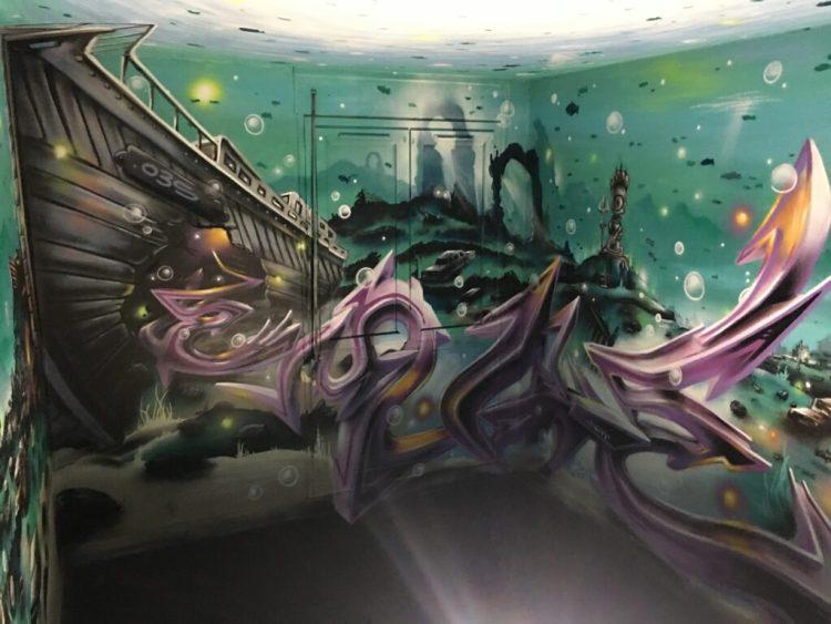 Street Art Abbeville - Oeuvre Anamorphique de MG La Bomba