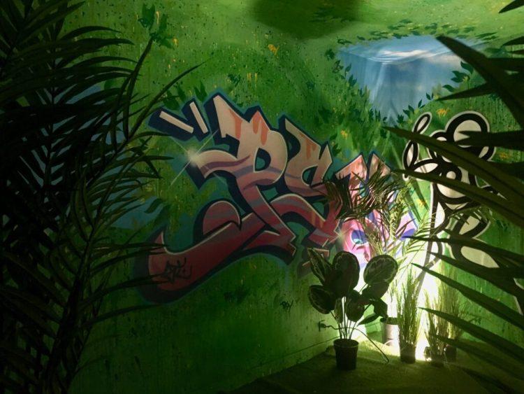 Jungle urbaine par PsyckozeNoLimit à l'espace transition ephemere d'Abbeville