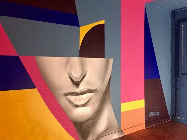Street Art Abbeville - Espace Ephémère - oeuvre de Skio1 très graphique