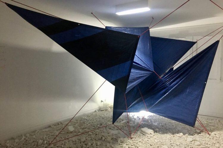 oeuvre de Romain Froquet dans l'espace transition ephémère à Abbeville