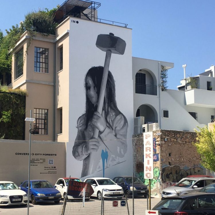 Street Art Athènes - Ino Expo - Breaking Barriers of Equality