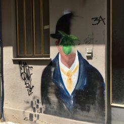 Magritte Art Urbain Athènes
