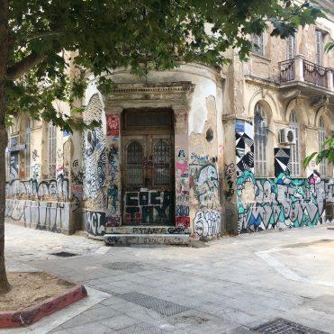 quartier de metaxourgeio Athènes graffitis
