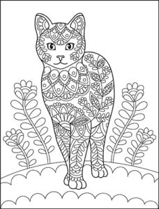 Doodle Cats Adult Coloring Book