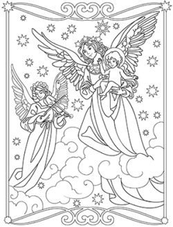 Magic Christmas Coloring Book For Adults