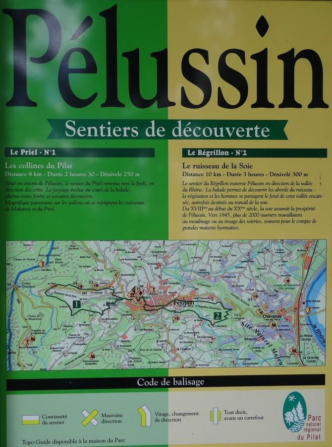 Carte Des Sentiers Du Pilat : carte, sentiers, pilat, Sentier, Priel, Randonnée, Pilat