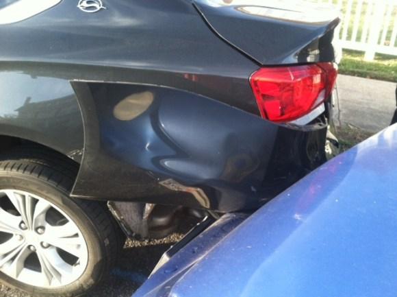 damaged car parts